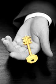 key and hand